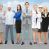 people, profession, qualification, employment and success concep